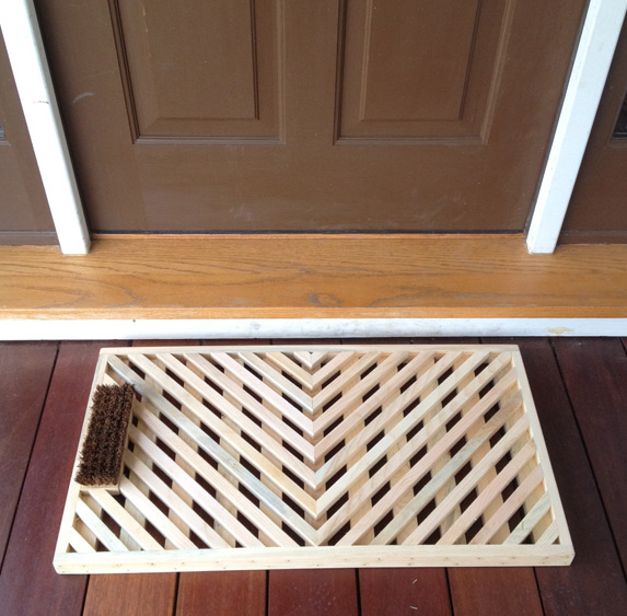 Natural Wooden Doormat